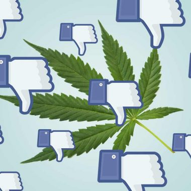 Facebook contro la cannabis light